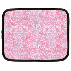 Damask2 White Marble & Pink Watercolor Netbook Case (xxl)