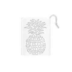 Pinapplesilvergray Drawstring Pouches (xs)