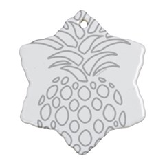 Pinapplesilvergray Ornament (snowflake)