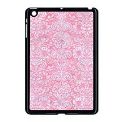 Damask2 White Marble & Pink Watercolor Apple Ipad Mini Case (black) by trendistuff