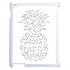 Pinapplesilvergray Apple Ipad 2 Case (white) by BohoRainbow