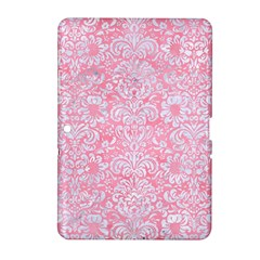 Damask2 White Marble & Pink Watercolor Samsung Galaxy Tab 2 (10 1 ) P5100 Hardshell Case