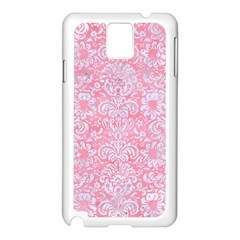 Damask2 White Marble & Pink Watercolor Samsung Galaxy Note 3 N9005 Case (white)