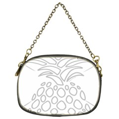 Pinapplesilvergray Chain Purses (one Side)