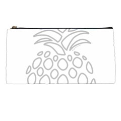Pinapplesilvergray Pencil Cases