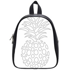 Pinapplesilvergray School Bag (small)