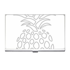 Pinapplesilvergray Business Card Holders by BohoRainbow