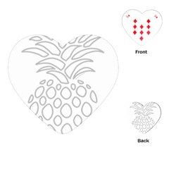 Pinapplesilvergray Playing Cards (heart)