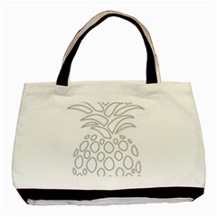 Pinapplesilvergray Basic Tote Bag (two Sides)