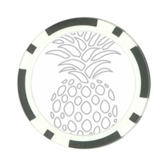 Pinapplesilvergray Poker Chip Card Guard (10 Pack)