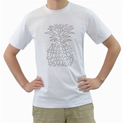 Pinapplesilvergray Men s T Shirt (white)