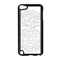 Pinapplesilvergray Apple Ipod Touch 5 Case (black) by BohoRainbow