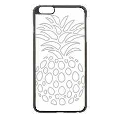 Pinapplesilvergray Apple Iphone 6 Plus/6s Plus Black Enamel Case