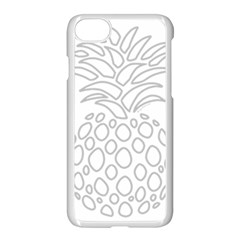 Pinapplesilvergray Apple Iphone 8 Seamless Case (white)