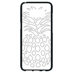 Pinapplesilvergray Samsung Galaxy S8 Black Seamless Case