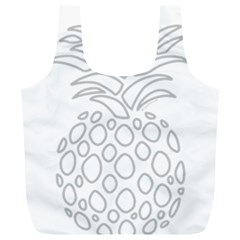Pinapplesilvergray Full Print Recycle Bags (l)