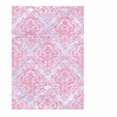 Damask1 White Marble & Pink Watercolor (r) Large Garden Flag (two Sides) by trendistuff