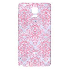 Damask1 White Marble & Pink Watercolor (r) Galaxy Note 4 Back Case