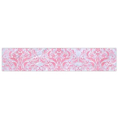 Damask1 White Marble & Pink Watercolor (r) Small Flano Scarf