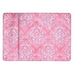 Damask1 White Marble & Pink Watercolor Samsung Galaxy Tab 10 1  P7500 Flip Case