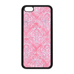 Damask1 White Marble & Pink Watercolor Apple Iphone 5c Seamless Case (black)