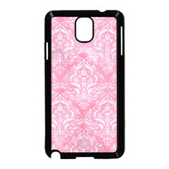 Damask1 White Marble & Pink Watercolor Samsung Galaxy Note 3 Neo Hardshell Case (black)
