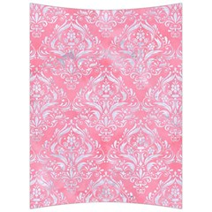 Damask1 White Marble & Pink Watercolor Back Support Cushion by trendistuff
