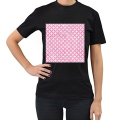 Circles3 White Marble & Pink Watercolor (r) Women s T Shirt (black)