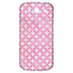 Circles3 White Marble & Pink Watercolor (r) Samsung Galaxy S3 S Iii Classic Hardshell Back Case
