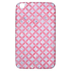 Circles3 White Marble & Pink Watercolor (r) Samsung Galaxy Tab 3 (8 ) T3100 Hardshell Case