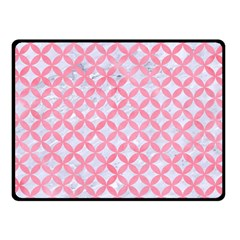 Circles3 White Marble & Pink Watercolor (r) Double Sided Fleece Blanket (small)