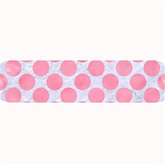 Circles2 White Marble & Pink Watercolor (r) Large Bar Mats