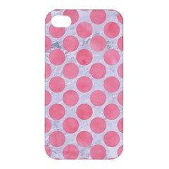 Circles2 White Marble & Pink Watercolor (r) Apple Iphone 4/4s Premium Hardshell Case