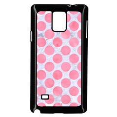 Circles2 White Marble & Pink Watercolor (r) Samsung Galaxy Note 4 Case (black)