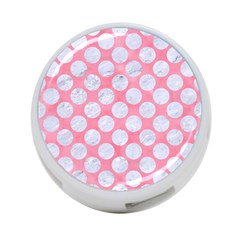 Circles2 White Marble & Pink Watercolor 4 Port Usb Hub (two Sides)
