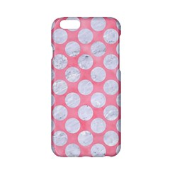 Circles2 White Marble & Pink Watercolor Apple Iphone 6/6s Hardshell Case