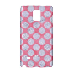 Circles2 White Marble & Pink Watercolor Samsung Galaxy Note 4 Hardshell Case