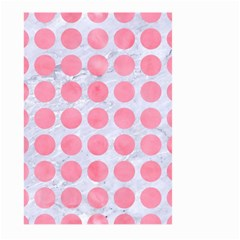 Circles1 White Marble & Pink Watercolor (r) Large Garden Flag (two Sides)