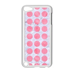 Circles1 White Marble & Pink Watercolor (r) Apple Ipod Touch 5 Case (white)