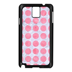 Circles1 White Marble & Pink Watercolor (r) Samsung Galaxy Note 3 N9005 Case (black)