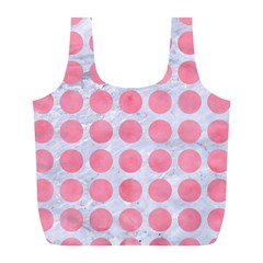 Circles1 White Marble & Pink Watercolor (r) Full Print Recycle Bags (l)