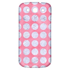 Circles1 White Marble & Pink Watercolor Samsung Galaxy S3 S Iii Classic Hardshell Back Case by trendistuff