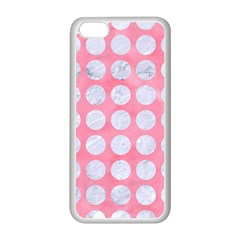 Circles1 White Marble & Pink Watercolor Apple Iphone 5c Seamless Case (white)