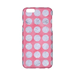 Circles1 White Marble & Pink Watercolor Apple Iphone 6/6s Hardshell Case