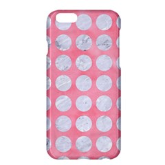 Circles1 White Marble & Pink Watercolor Apple Iphone 6 Plus/6s Plus Hardshell Case