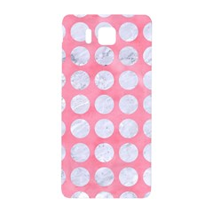 Circles1 White Marble & Pink Watercolor Samsung Galaxy Alpha Hardshell Back Case