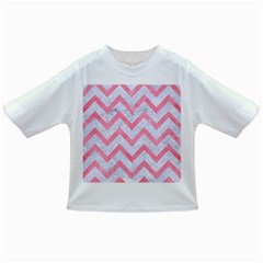 Chevron9 White Marble & Pink Watercolor (r) Infant/toddler T Shirts
