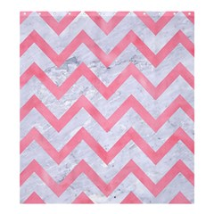 Chevron9 White Marble & Pink Watercolor (r) Shower Curtain 66  X 72  (large)  by trendistuff