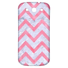 Chevron9 White Marble & Pink Watercolor (r) Samsung Galaxy S3 S Iii Classic Hardshell Back Case
