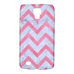 Chevron9 White Marble & Pink Watercolor (r) Galaxy S4 Active